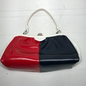 Vintage Black, Red & White Purse